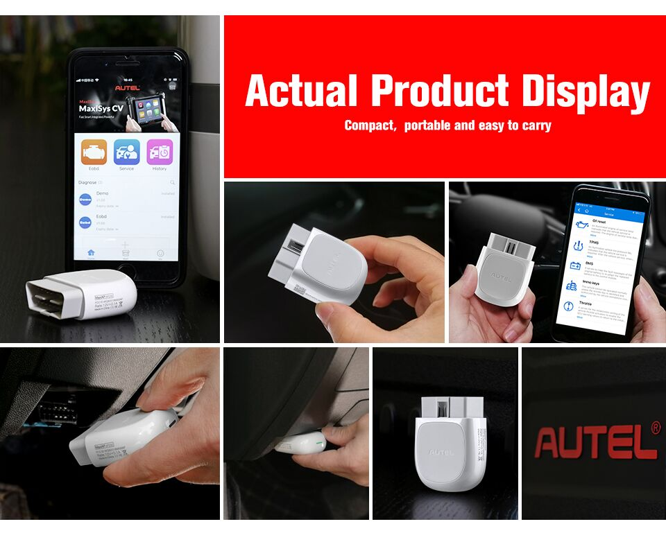 Autel MaxiAP AP200 Bluetooth OBD2 Code Reader with Full Systems Diagnoses, Simplified Edition of MK808/MX808, Ship from UK no Tax - Autel Authorized Dealer-Auto intelligence Tools