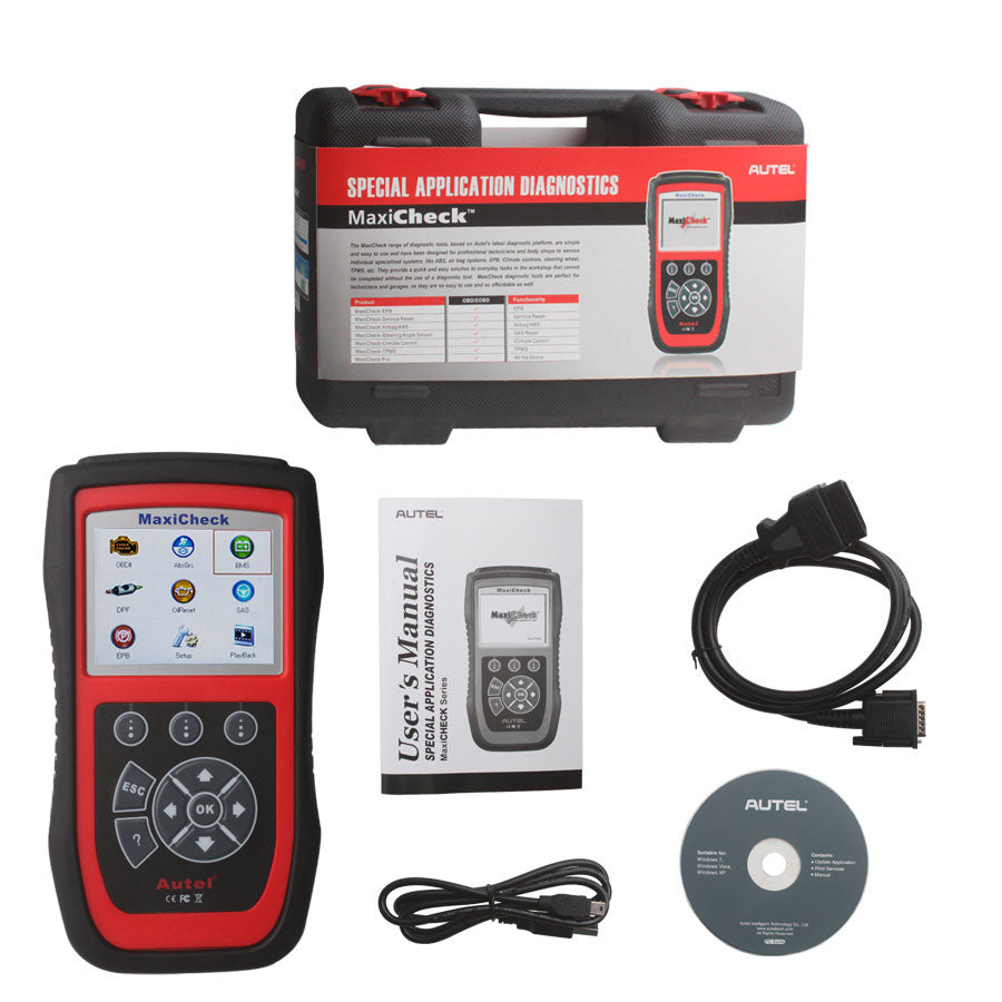 Autel MaxiCheck Pro Diagnostic Scan Tool Support SRS Airbag, Oil Reset, SAS, EPB, BMS Lifetime Free Update Online - Autel Authorized Dealer-Auto intelligence Tools