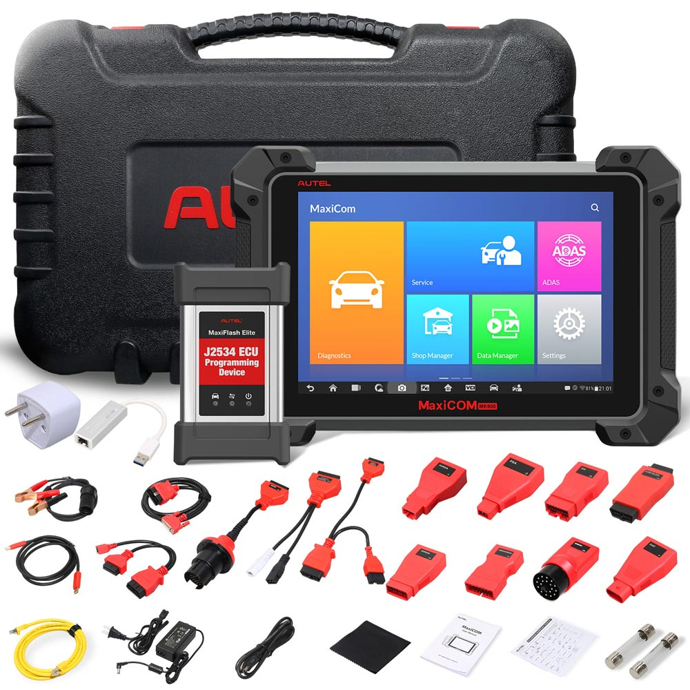 Autel MaxiCOM MK908P Automotive Diagnostic Tool with J2534 ECU Programming ECU Coding, Active Test, 30+ Service Functions Ship from UK no Tax - Autel Authorized Dealer-Auto intelligence Tools