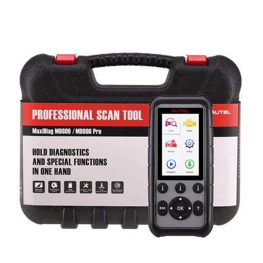 Autel MaxiDiag MD806 OBD2 Diagnostic Scan Tool with 4 Systems, support ABS, Engine, Transmission, SRS, EPB, Oil Reset, DPF, SAS and BMS, Lifetime Free Update - Autel Authorized Dealer