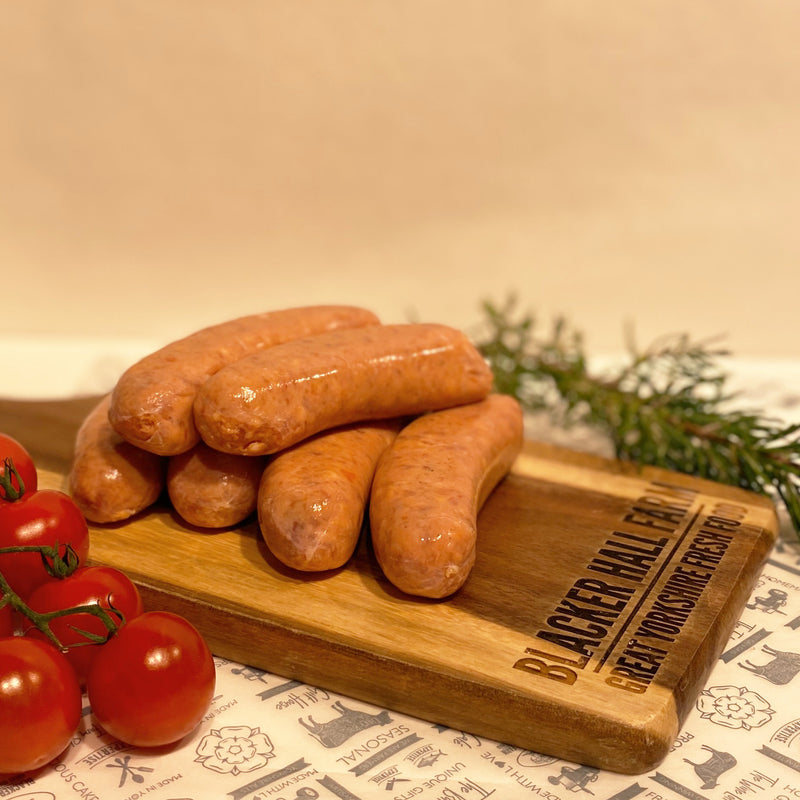 Thick Pork and Tomato Sausages