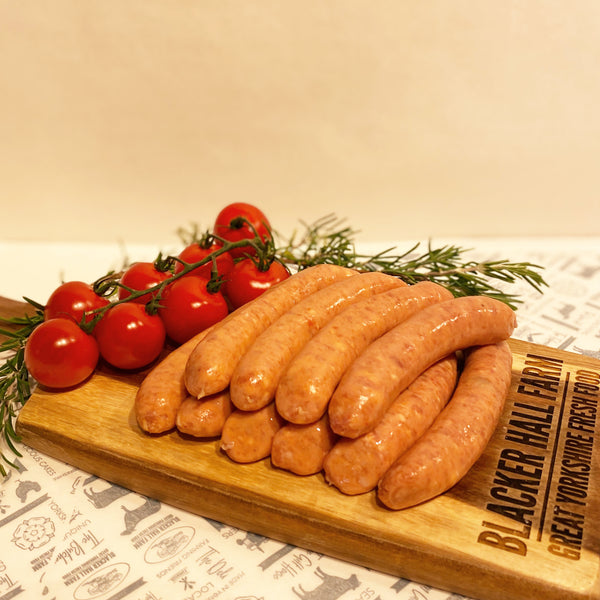 Thin Pork & Tomato Sausages