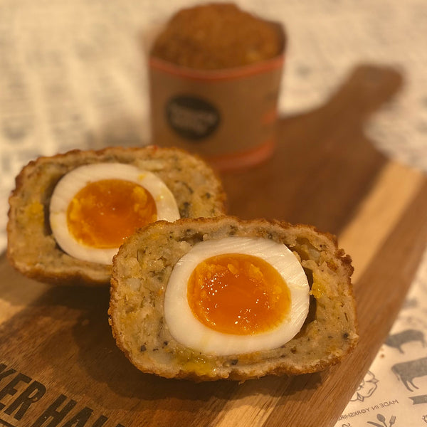 Happy Belly Sweet Potato and Feta Scotch Egg