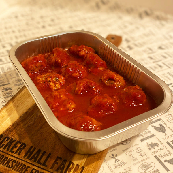 12 Steak, Cheese & Onion Meatballs in Italian Sauce
