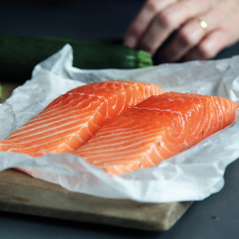 Two Scottish Salmon Fillets