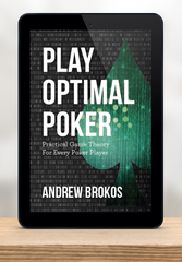 Play Optimal Poker e-book display sitting on a shelf
