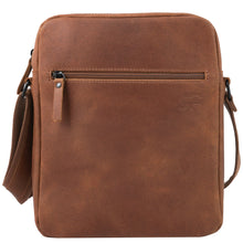 "Load image into Gallery viewer, Shoulder bag ""Daybag 11"", tablet compartment up to 11 inches, leather brown vintage"