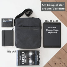 "Load image into Gallery viewer, Umhängetasche ""Daybag 11"", Tablet bis 11 Zoll, All-Black"