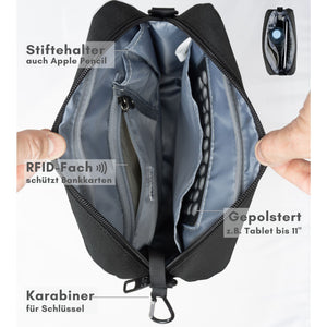 """Daybag 11"" shoulder bag, tablet compartment up to 11 inches"