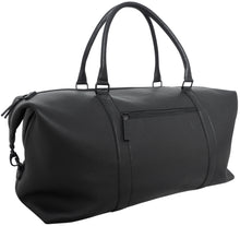 "Load image into Gallery viewer, Weekender travel bag ""Freedombag"" in leather, black"
