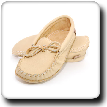 Natural Leather Moccasins - 105L