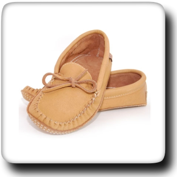 Double Leather Moccasins - Mocha 107M