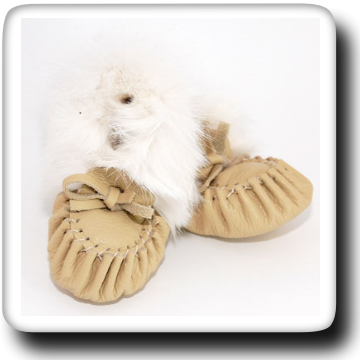 Deer Tan Slipper With Fur 121B