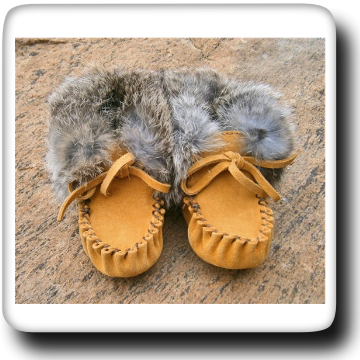 Fur Trimmed Moccasin 1262C