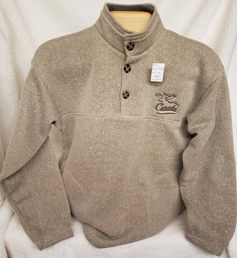 Nantucket Double Collar Sweater Oatmeal/Brown #3034