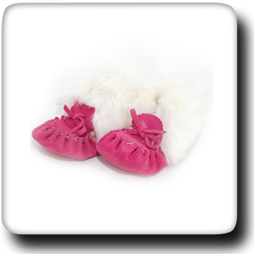 Fuchsia Lined Slipper With Fur 298B