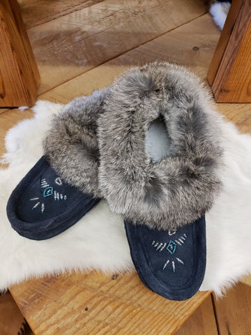 #658L Navy Slipper