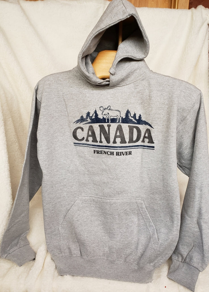Adult Hooded Sweat Grey #2061