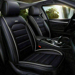 14× Luxury PU Leather Car Seat Covers Universal Front Rear Cushions Accessories