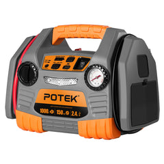POTEK Car Jump Starter with 150 PSI Tire Inflator/Air compressor,1000 Peak& USB