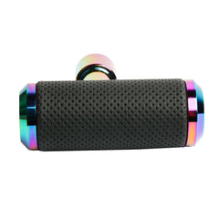 MUGEN NEO CHROME Leather Shift Knob Aircraft Joystick Transmission Racing Gear