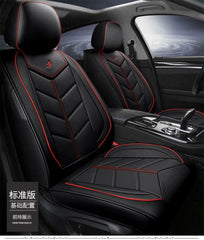 Black Car Seat Covers Cushions Full Set PU Leather For 5-Seats Car SUV Truck USA
