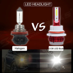 9004 COB LED Headlight Bulb 6000K Xenon White High+Low Dual Beam Light 30000LM