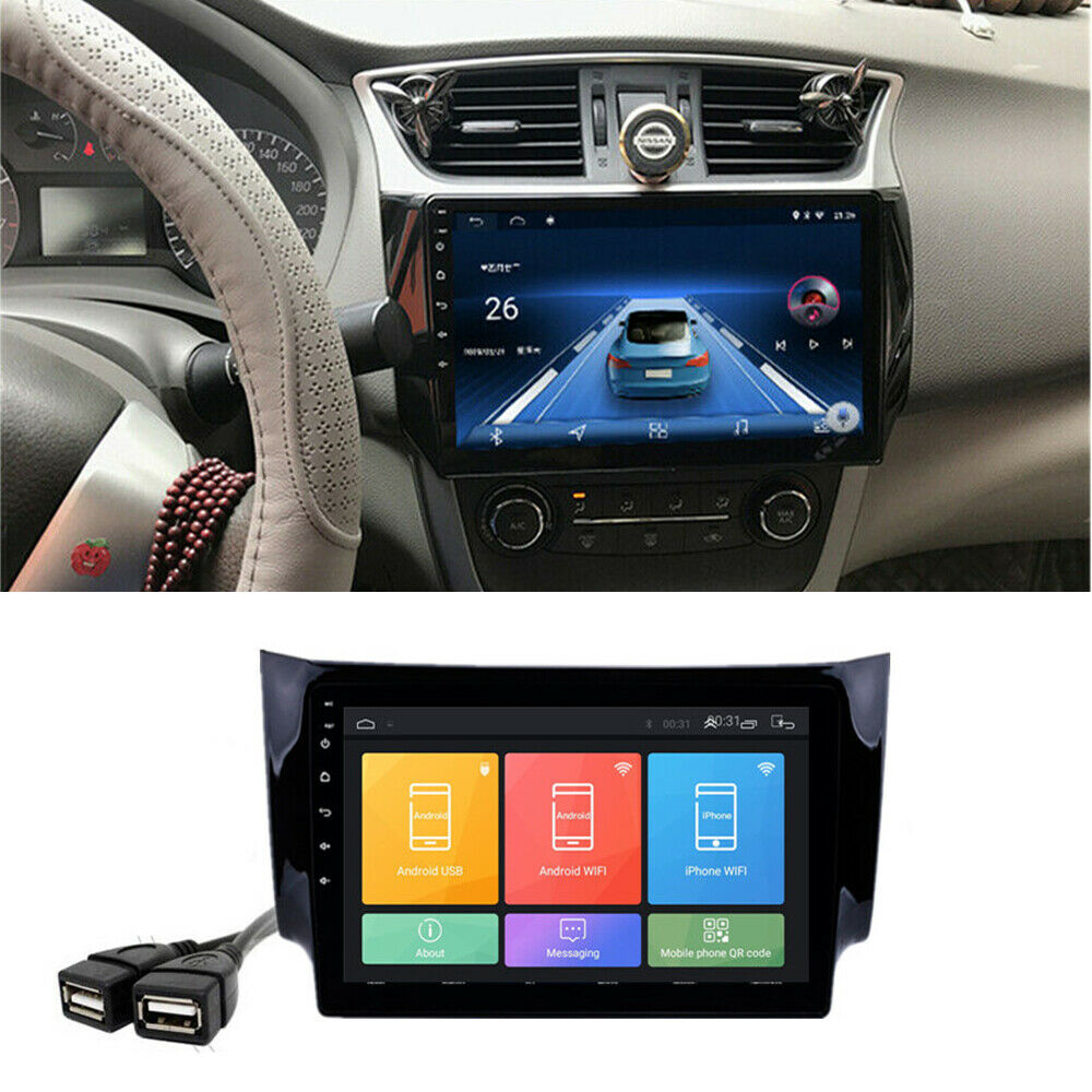"10.1"" Android 9.1Car Radio Stereo GPS 1+ 16GB For Nissan Sentra Sylphy 2012-2018"