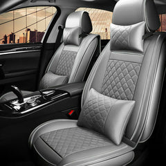 11× Luxury Car Seat Cover 5-Sit Front&Rear PU Leather Breathable Cushion Comfort