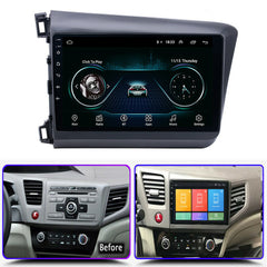 9'' Android 9.1 Car Stereo Radio HD Quad-core For Honda Civic w/ Canbus 2012-15