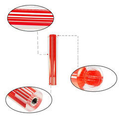 VIP 150mm Transparent Red Crystal Shift Knob For Universal Manual Transmission