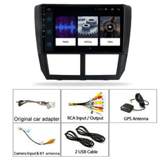 9'' Android 9.1 Car Stereo Radio Head Unit HD GPS For Subaru Forester 2008-2012