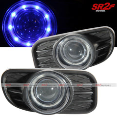 Blue Halo LED Projector Fog Lights Lamps fits 99-03 Jeep Grand Cherokee