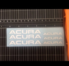Acura Brake Caliper Sticker High Temp Vinyl Decal Set Of 6 (ANY COLOR)