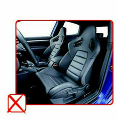 Black Gray Luxurious PU Leather Full 5 Seats Cushion Front Rear to Toyota 80209
