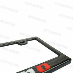 100% Real Carbon Fiber Black Glossy NISMO License Plate Frame-1PCS