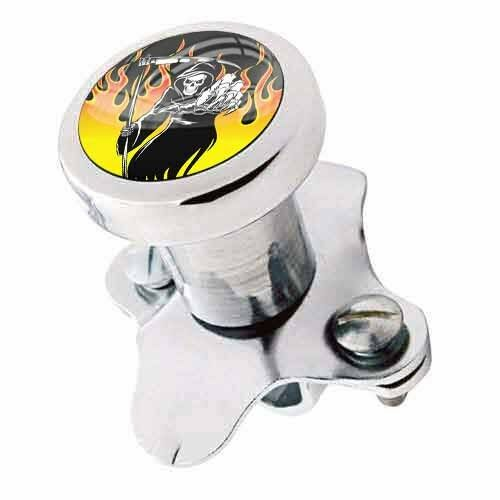 New Steering Wheel Spinner Suicide Brody Knob Rod Car Truck - REAPER SKULL FLAME
