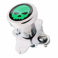 Polished Steering Wheel Spinner Suicide Brody Knob Rod Car Truck - Green Skull G