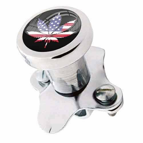 Polished Steering Wheel Spinner Suicide Brody Knob Rod Car Truck - USA POT LEAF