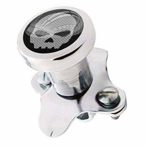 Polished Steering Wheel Spinner Suicide Brody Knob Rod Car Truck - G SKULL CFW