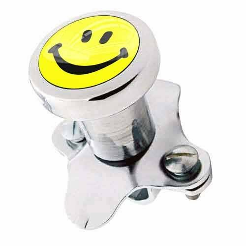 Polished Steering Wheel Spinner Suicide Brody Knob Rod Car Truck - SMILE FACE