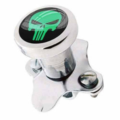 Polished Steering Wheel Spinner Suicide Brody Knob Truck GREEN PUNISHER SKULL