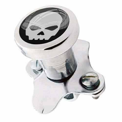 Polished Steering Wheel Spinner Suicide Brody Knob Rod Car Truck - GREY G SKULL