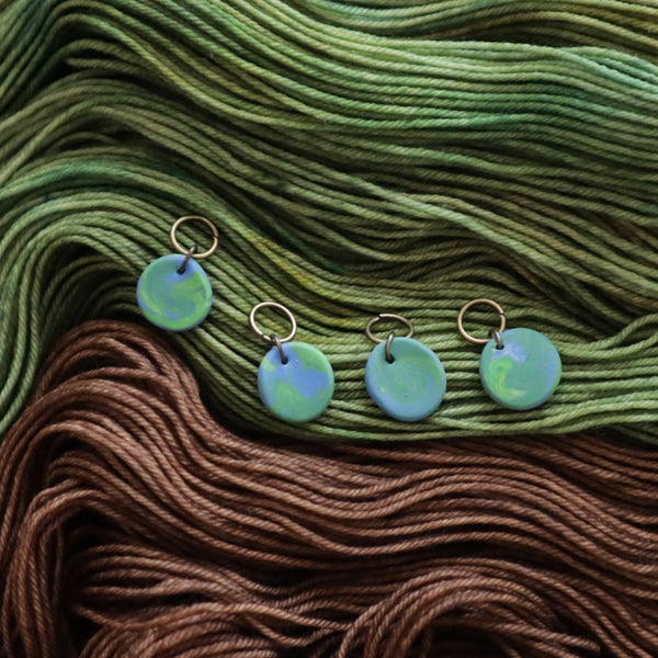 Preorder - Edamame Handmade Clay Stitch Markers