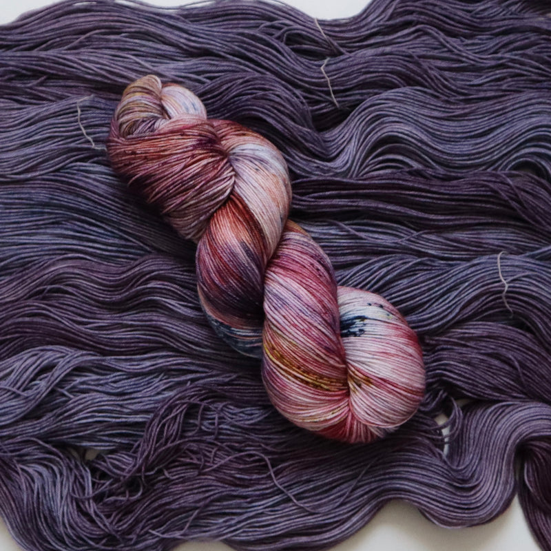 Umeboshi on Superwash Merino Nylon Sock