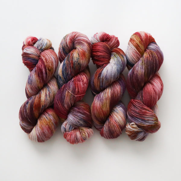 Umeboshi on Peruvian Wool Sock