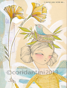 Cori Dantini - Bird in a nest with girl - Limited edition print