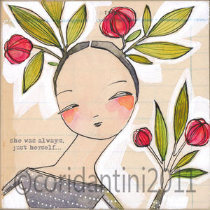 Cori Dantini - Girl with roses - Limited edition print
