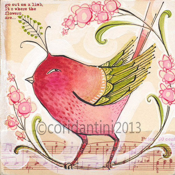 Cori Dantini - Rose colored bird - Limited edition print