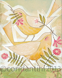 Cori Dantini - Yellow birds - Limited edition print